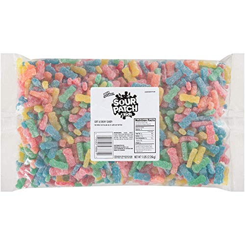 SOUR PATCH KIDS Soft & Chewy Bulk Candy - 5 Pound Bag - For Holiday Decorations and Treats