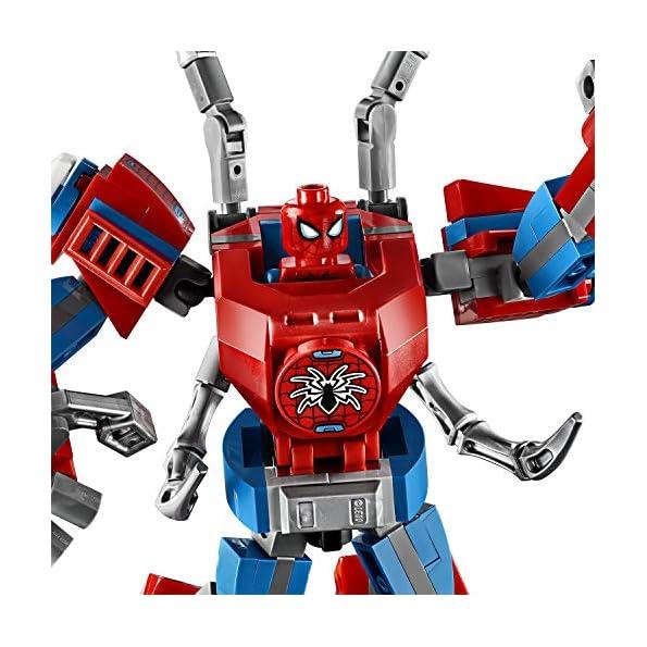 LEGO-Super-Heroes-Il-Mech-di-Spider-Man-Set-di-Costruzioni-per-Bambini-con-la-Minifigure-di-SpiderMan-e-Ragnatela-Acciuffa-Furfanti-6-Anni-76146