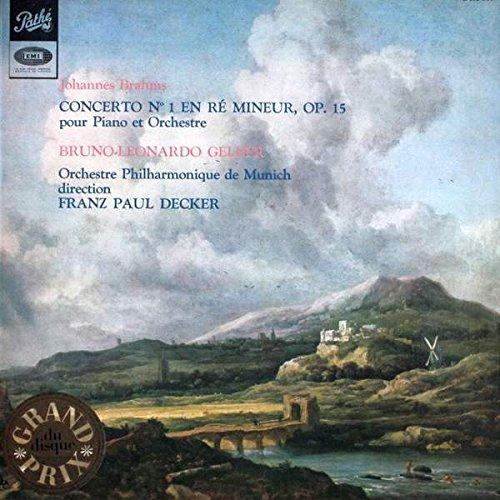 Johannes Brahms - Bruno Leonardo Gelber , Münchner Philharmoniker , Franz-Paul Decker - Concerto Per Pianoforte E Orchestra Nr. 1 In Re min, Op. 15 - Pathé - ASTX 339, Pathé - DTX 339