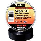 3M ScotchSuper33+ - Cinta aislante eléctrica (19 mm x 33 m)