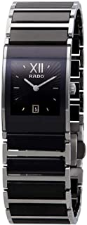 Rado Women's Two Tone Ceramic Black Dial Watch - R20785172