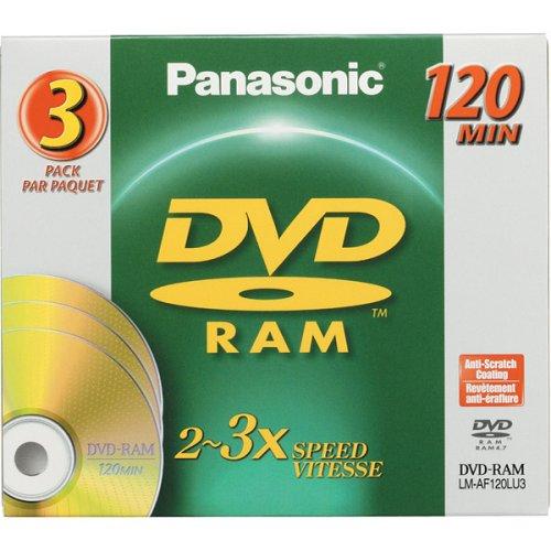 PANASONIC DVD-RAM Disc for Video Recording - LMAF120LU/ 3