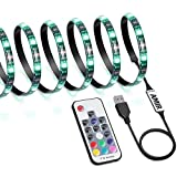 AMIR LED Strip Light, 19 Modes 20 Colors RGB Lights with Remote Control