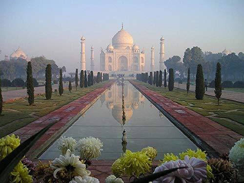 Puzzle de Madera de 1000 Piezas para Adultos, Templo Taj Mahal Agra India