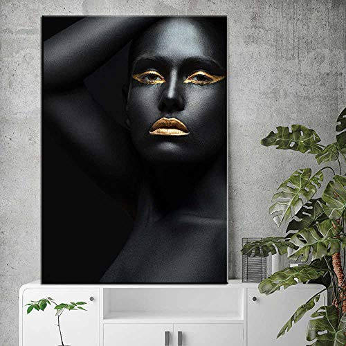 Canvas Wall Art Print African girl wall home decorationfor living room poster 60x80cmFrameless painting