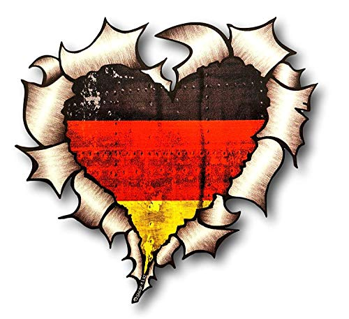 Vinyl Stickers Deutsche Flagge Herz Aufkleber