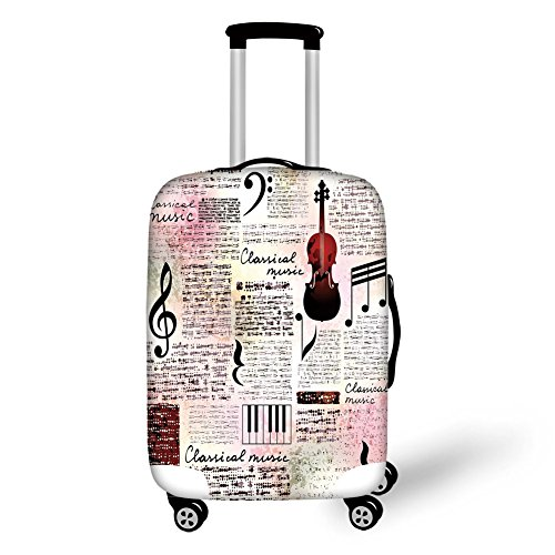 Travel Luggage Cover Suitcase Protector,Waterfall in the Forest Nature...
