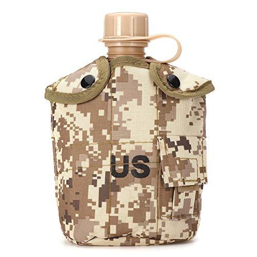 Lihood Cubierta castigadora del ejército táctico de Aluminio útil para Bebidas de Botella de Agua útil (Color : Desert Digital)