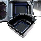 LFOTPP Ateca Guantera reposabrazos Caja Center Console Armrest Storage Box Interior (Azul)