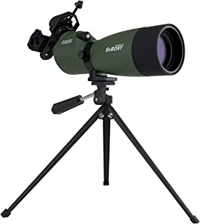 SVBONY SV14 Spotting Scope with Tripod and Phone Adapter 20-60x60 Waterproof FMC Bak4 Prisms for Bird Watching Target Shoo...