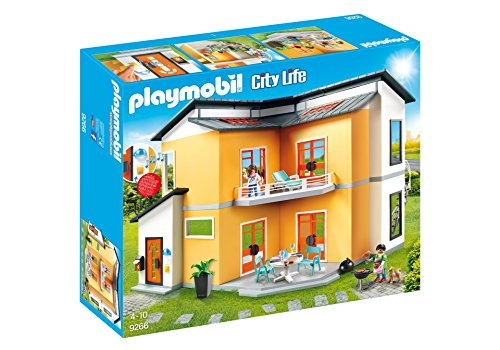PLAYMOBIL City Life Casa Moderna, con Efectos de Luces y
