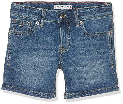 Tommy Hilfiger Tommy Hilfiger Mädchen Nora NYMST Shorts, Blau (New York Mid Stretch 911), 104 (Herstellergröße: 4)