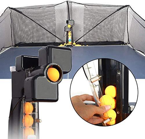 J & J Ping-Pong-Roboter-Maschine mit Fangnetz, automatisches Tischtennis Trainer Tischtennis-Roboter Ballmaschine für Spin Balltraining