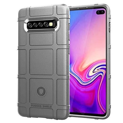 Funda compatible con Samsung Galaxy S10 Plus, funda Slim Fit, funda de silicona suave, ultrafina, ultraligera, mate, antiarañazos, silicona gris Talla única