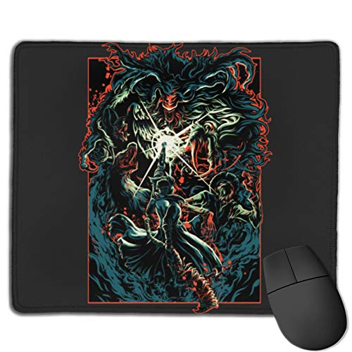 Gaming Mouse Pad Beast Bloody Mode - Bloodborne Non-Slip Rubber Base Mouse Pads for Computers Laptop Office 12.01'X9.84'X0.02' Inch