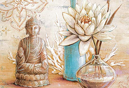 Jigsaw Puzzle 500 Pieces Buddha and White Lotus Adults Children Wooden Puzzle Leisure Creative Games Toys Puzzles
