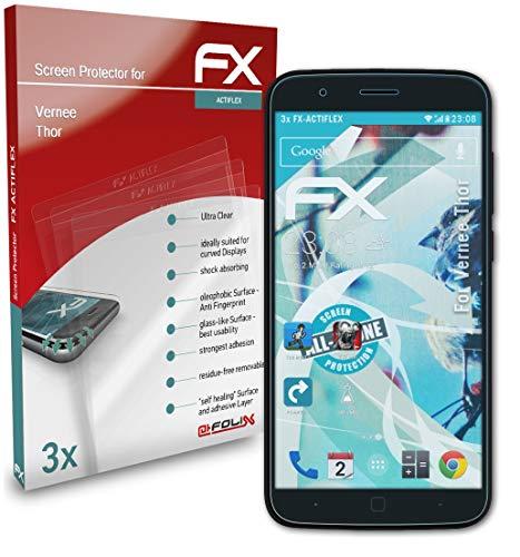 atFolix Schutzfolie kompatibel mit Vernee Thor Folie, ultraklare & Flexible FX Bildschirmschutzfolie (3X)