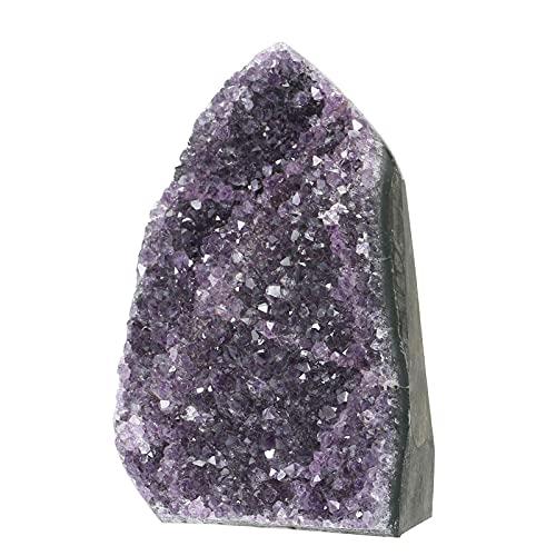 Roeam Piedra amatista natural, piedra de amatista, geoda de cristal curativo, piedras...