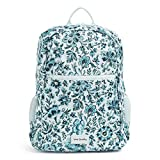 Vera Bradley Women's Recycled Lighten Up Reactive Grand Backpack, Cloud Floral, One Size