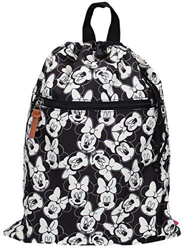 Disney Fashion Minnie Mouse Turnbeutel Sportbeutel - Schwarz und Weiß