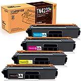 Starover TN423 TN421 Cartuchos de Tóner Compatibles para Brother TN-423 TN-421 Cartuchos de Tóner para Brother HL-L8260CDW HL-L8360CDW DCP-L8410CDN DCP-L8410CDW MFC-L8690CDW MFC-L8900CDW(4 Paquete)