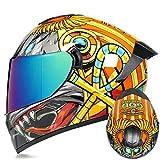 Uomo Donna Casco Integrale Da Corsa Casco Da Motocross Doppia Lente Protezione Solare Casco Da Moto Per Motociclista Cappellini Di Protezione Per Moto Fuoristrada