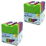 Congelatori Ice Pack per sacchi refrigeranti Lunch Box Riutilizzabili - Piccoli ma durevoli impacchi ghiaccio - Ideali per bambini Scatole pranzo scolastiche, Camping, Picnic, Escursionismo - 8 pezzi
