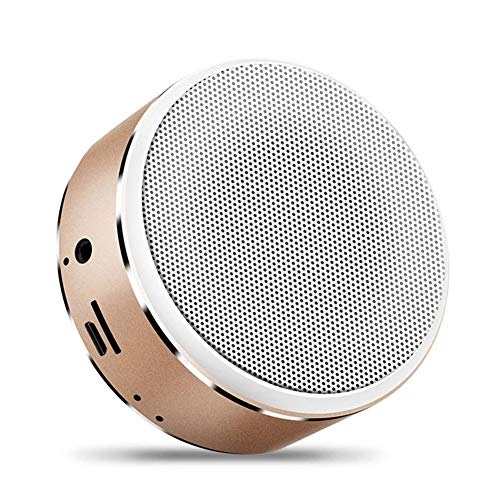 CHYSP Tragbare Bluetooth-Lautsprecher Mini-Wireless-Stereo-Subwoofer AUX-TF-Karte MP3-Player mit Mikrofon for Smartphone Tablet (Color : A)
