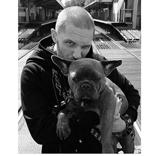 Haustier Hund Tom Hardy Poster Moderne Leinwand Malerei Wohnzimmer Zimmer Art Deco Malerei-50X70 cm Rahmenlose