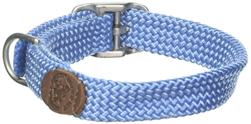 "Mendota Double Junior Collar, Sky Blue, 9/16"" Up to 12"""