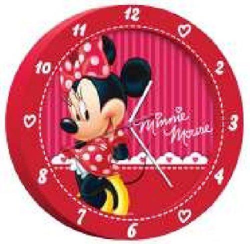 Disney Minnie wandklok van kunststof in geschenkverpakking 25 cm 90011