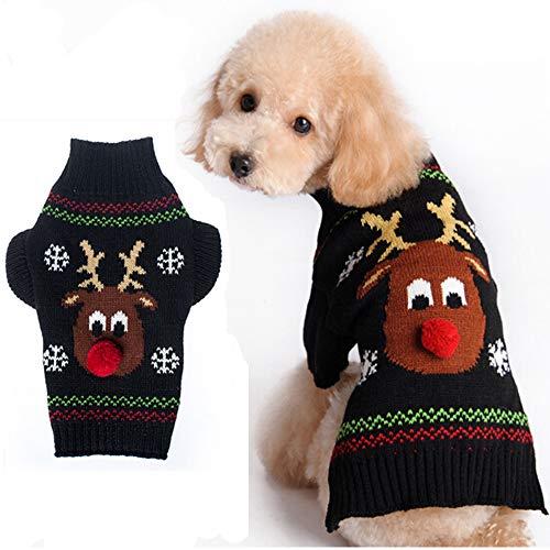 LSXX Vestiti di Natale per Cani Vestiti di Halloween per Cani Vestiti di Halloween per Animali Vestiti Invernali per Animali Maglione Caldo per Cani Adatto a Cani di Piccola e Media Taglia,L