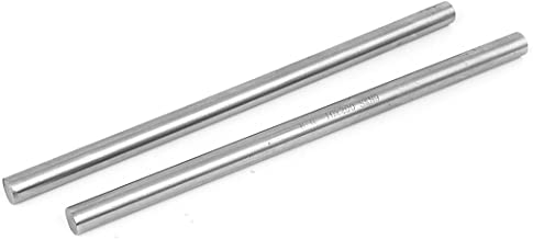 uxcell 10mm Diameter 200mm Length Metal Rod Bar Round Stock Lathe Tools 2pcs