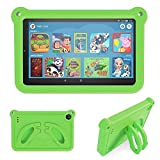 Case for Tablet 7 inch, Riaour Cover Case for Kids, Kid -Proof Light Weight Shock Proof Handle Stand Kids Case for 7 inch Tablet (7th/9th Generation, Compatible with 2019&2017Release) (Green)