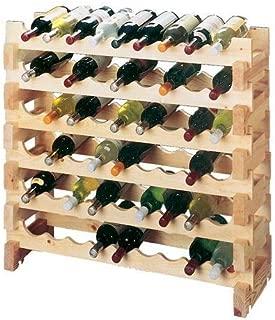 OKSLO Country pine floor wine rack (set of 2)