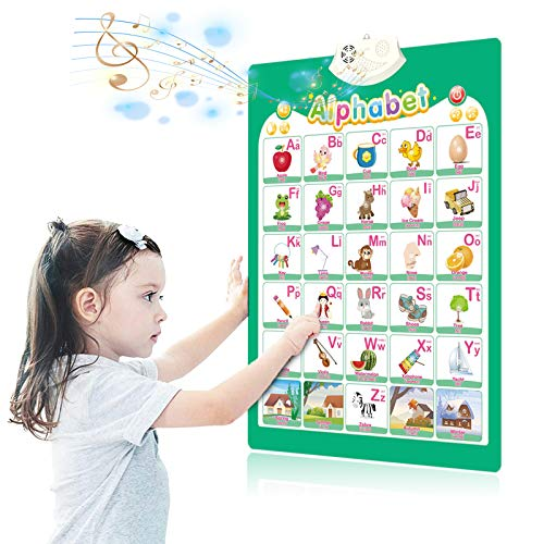 Learning Toys for Toddlers 1-3, Toddler Toys Age 2-4, Electronic Interactive Toys for Boys and Girls, Wall Chart Educational Posters for Preschool Kindergarten…