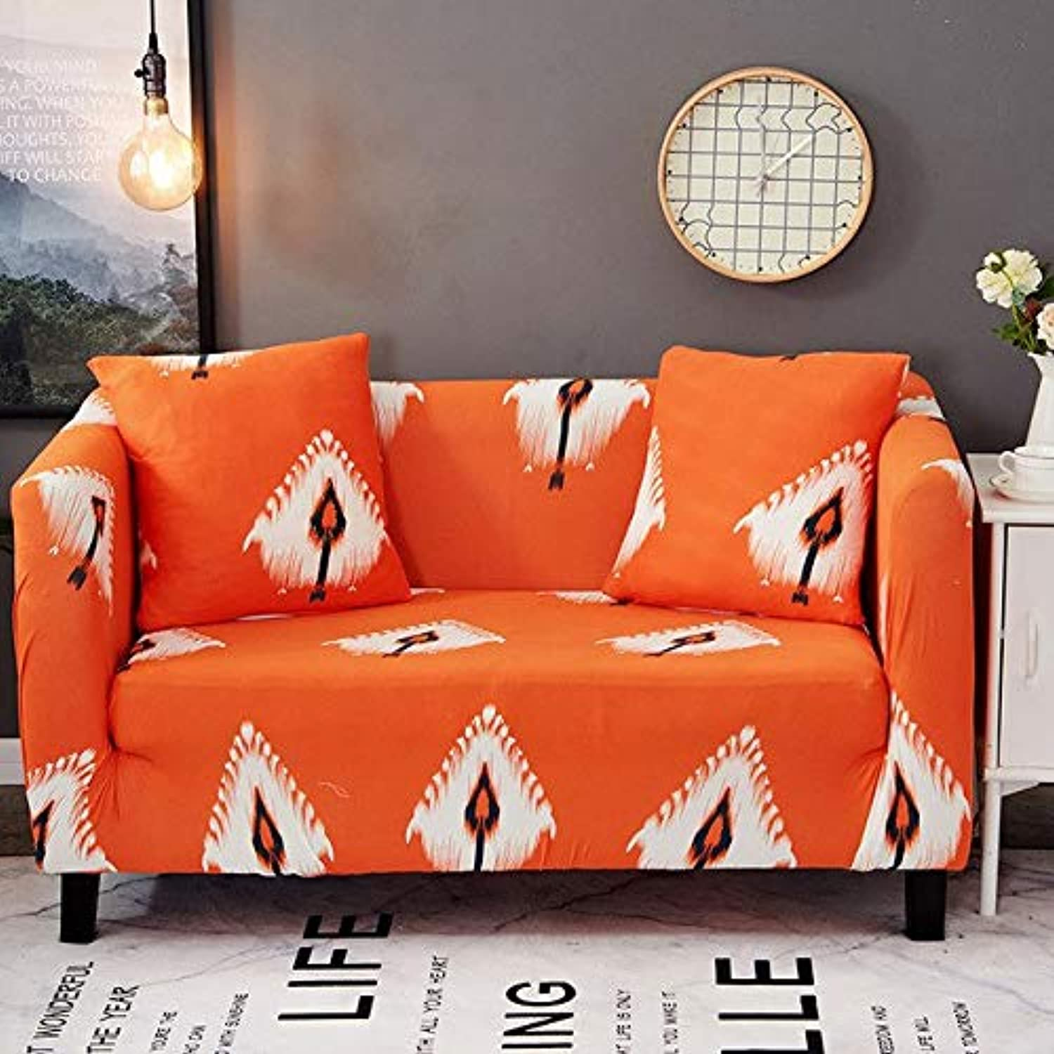 Farmerly 1pcs Flower Leaf Pattern Soft Stretch Sofa Cover Home Decor Spandex Furniture Covers Decoration Covering Hotel Slipcover 014   K, Three seat