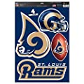 "Wincraft St. Louis Rams Team Logo Helmet Football Multi-use Decals 11"" X 17"" New Wall Decal Nfl"