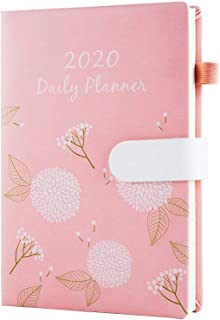Hourly Planner 2020 Daily Monthly Planners One Page Per Day A5 Work Schedule Planner Time Management Agenda Pink