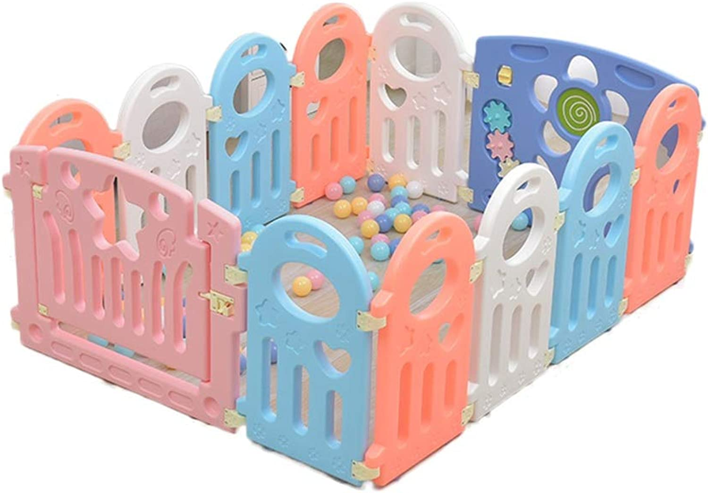 CSQ Suglings-Spiel-Zaun, Schlafzimmer-Wohnzimmer-Baby-Kriechen, das lernt, schützenden Zaun-Innenspielplatz-Ozean-Ball-Pool 40-80CM zu gehen Spielhaus für Kinder