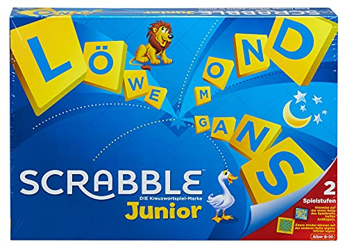 Mattel Games Y9670 - Scrabble Junior Wörterspiel und Kinderspiel, Kinderspiele Brettspiele geeignet für 2 - 4 Kinder ab 5 Jahren