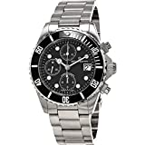 Revue Thommen Diver Automatic Watch - Black Dial Chronograph Date Revue Thommen Watch Mens - Stainless Steel Bracelet Swiss Revue Thommen Professional Dive Watch 17571.6137