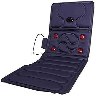 Masaje corporal completo, colchón, colchón con calor relajante, 8 juegos de motor, calefacción por infrarrojos, calefacción para personas mayores, colchón de masaje de presión azul165x57x3cm Roscloud@