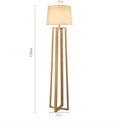Lámpara de Pie de Madera Moderna de Roble Construido en ...
