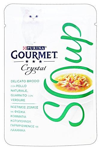 GOURMET Cristal De Pollo Sopa Sobre / Verduras 40 Gr Alimento Para Los Gatos