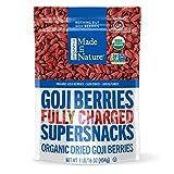 Made in Nature Premium Goji Berries, 16oz – Organic, Non-GMO, Sulfite-Free