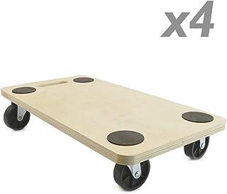 PrimeMatik - Plataforma de Carga y Transporte con Ruedas 560 x 290 mm 4-Pack