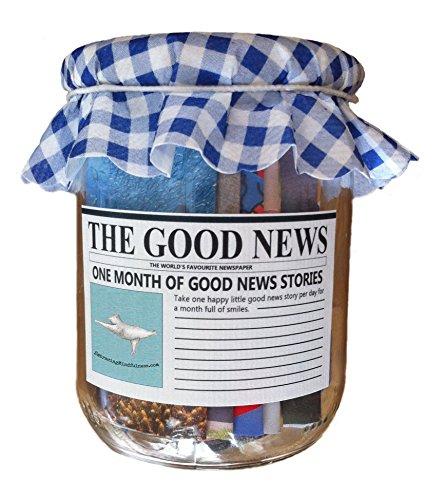 Embracing Mindfulness Optimismus, Positives Denken und Achtsamkeit in rustikalem Glas : Die Guten Nachrichten - EIN Monat positiver Nachrichten 31 Stück - EIN ganz besonderes Geschenk