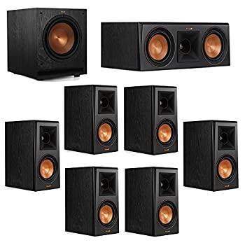 Klipsch 7.1 System with 2 RP-500M Bookshelf Speakers 1 Klipsch RP-500C Center Speaker 4 Klipsch RP-500M Surround Speakers 1 Klipsch SPL-100 Subwoofer