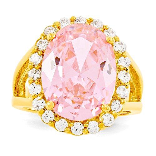 Diamond2Deal Kennedy Ring Vermeil Kunzit